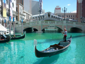 Gondolas at The Venetian in Las Vegas