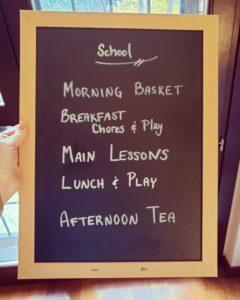 morning schedule for homeschool