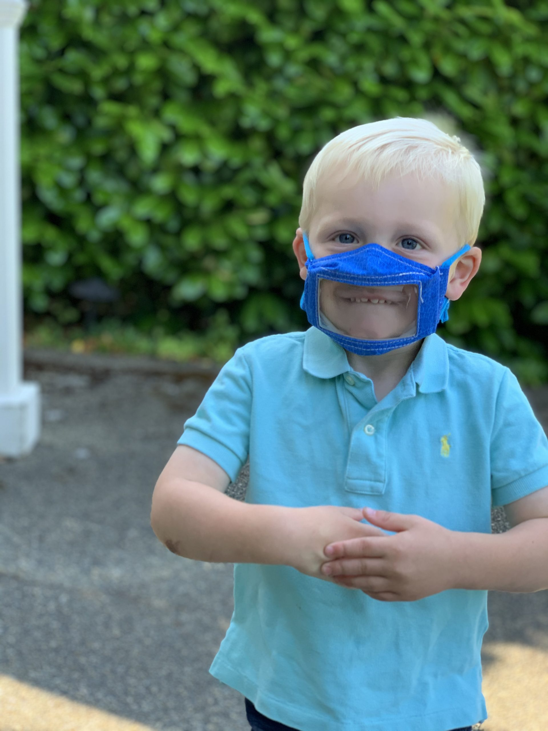 Littles can be seen and heard with specially designed masks
