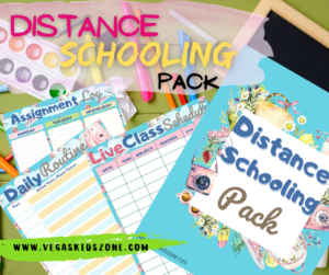 Distance schooling is easier with a good plan and organizer.
