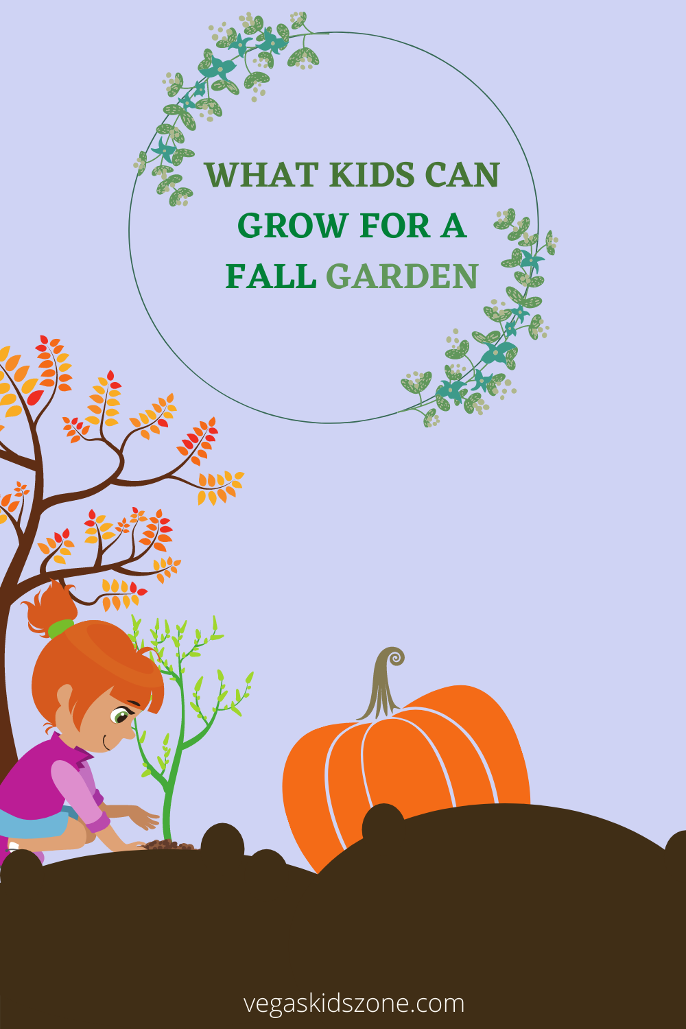 Kids can learn a lot from a fall garden and have crops ready for holiday meals.
