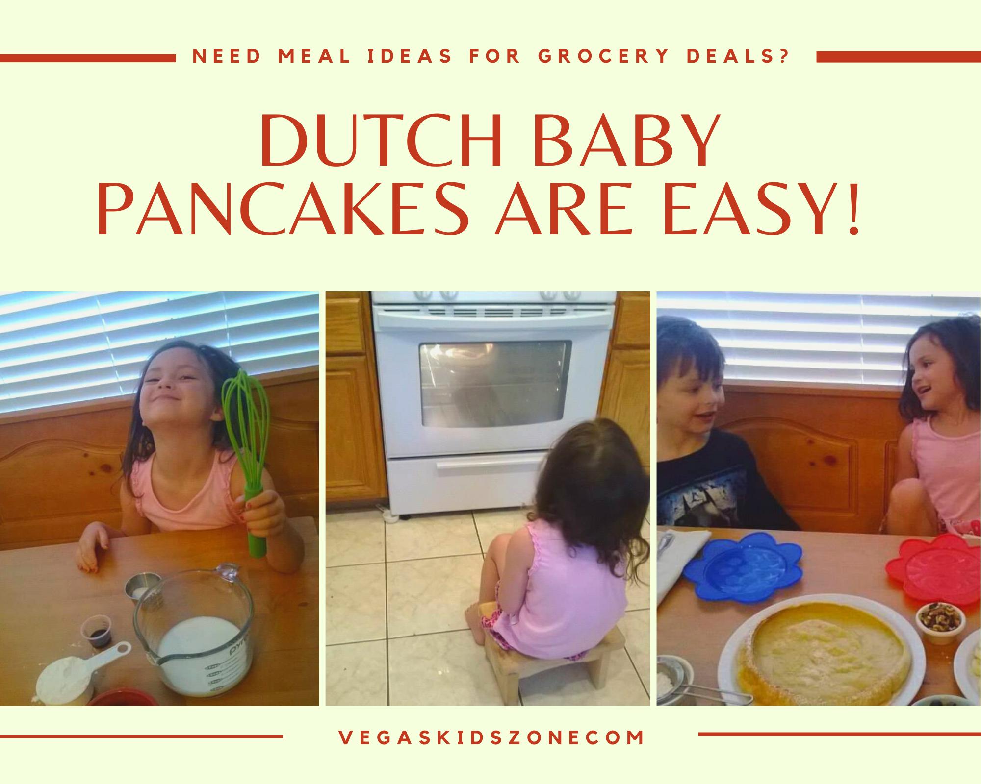 Kids can whip up a beautiful Dutch baby pancake.