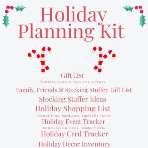 A detailed holiday planner and organizer can help you save money, time and effort this holiday season!