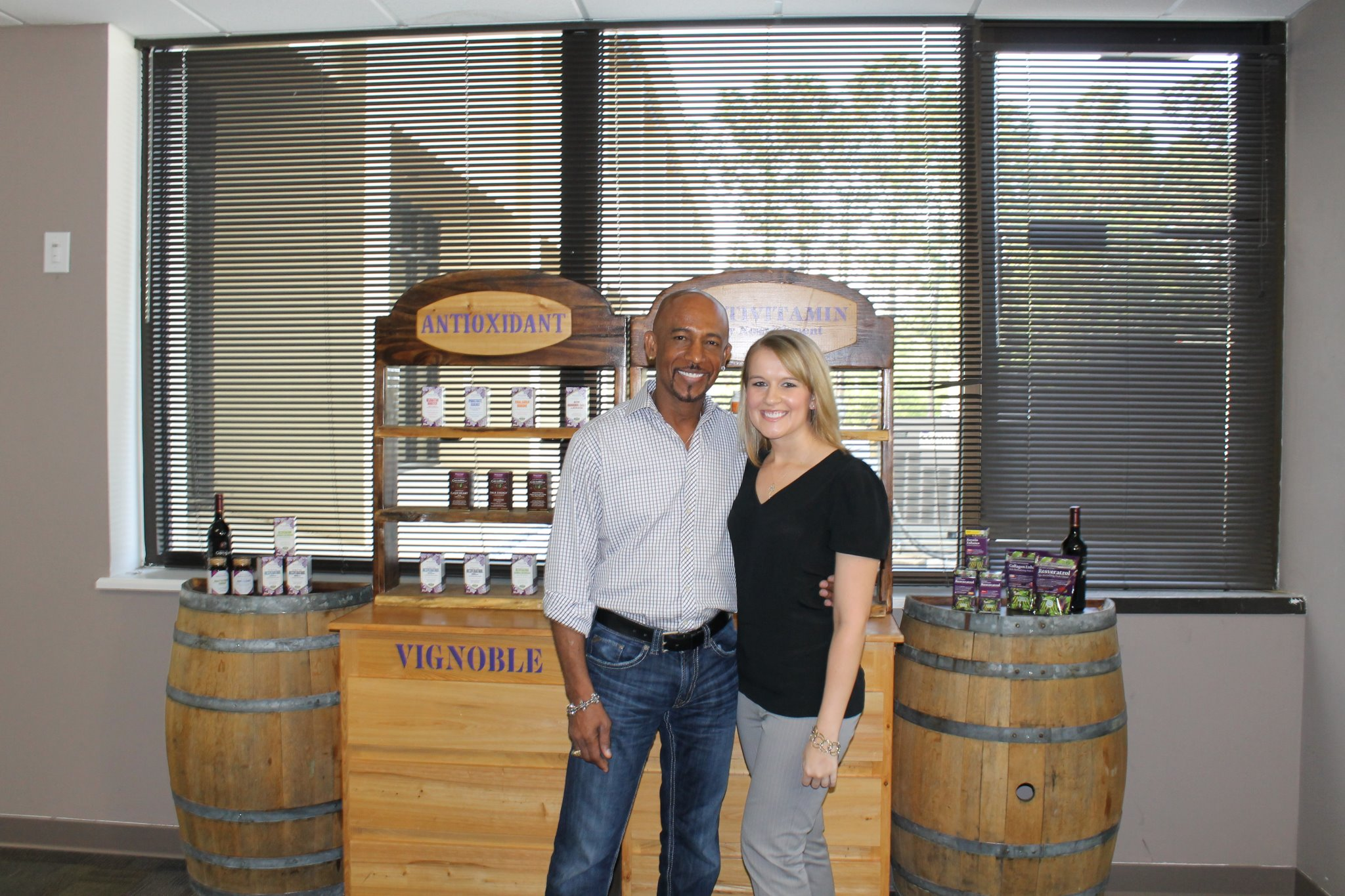 Ashley Shewey with Montel Williams.
