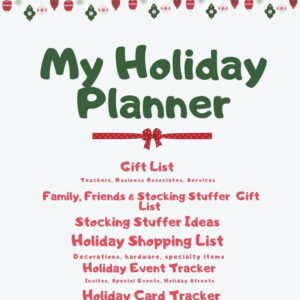 A good holiday planner keeps everything in one spot for quick reference and is fun to fill in!