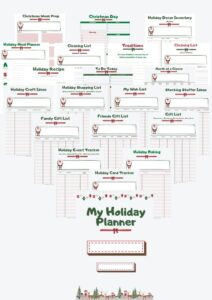 holiday planner kit for busy families