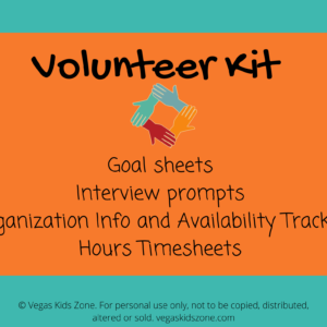 A volunteer kit has all you need to keep track of the organizations available, your hours and ready yourself fo interviews.