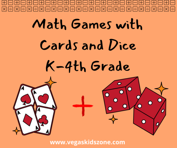 Math games with cards and dice can expand a child's understanding of basic math concepts in a fun way.