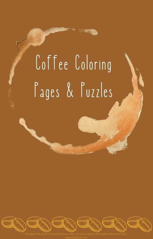 Coloring pages for coffee lovers