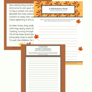 Fall poetry kit with writing prompts