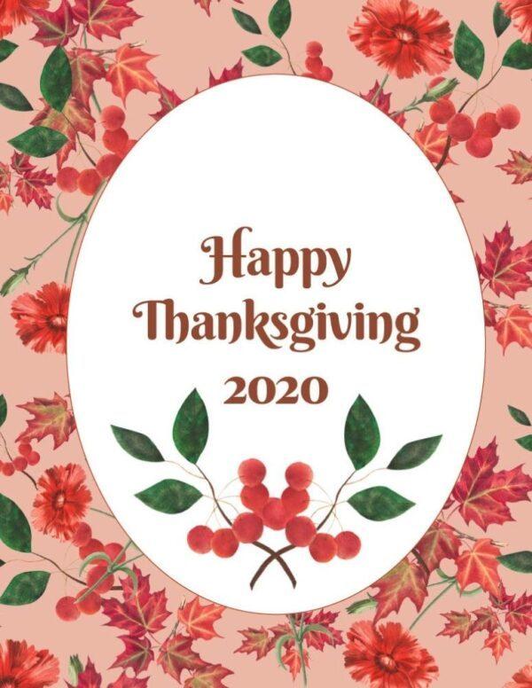 Thanksgiving planner for 2020