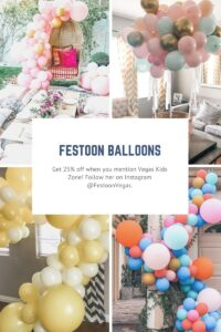 Festoon Balloons is offering 25 % off arches, bouquets and their inspired designs.