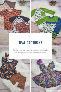 Handmade and inspired clothes by Teal Cactus KB at a discount for Vegas Kids Zone subscribers.