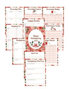thanksgiving planner images
