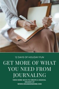journaling through the holidays