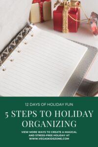 5 steps to an organized holiday season