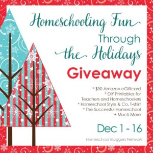 homeschool holiday giveaways