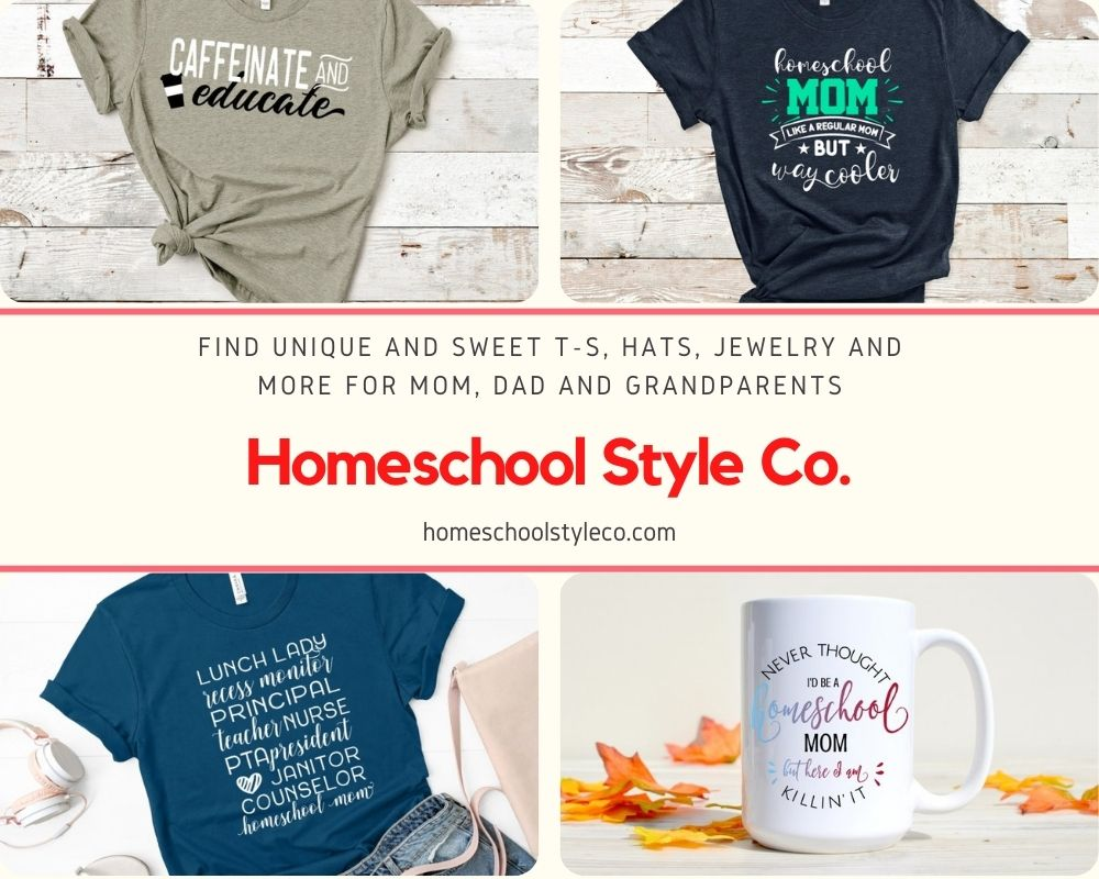 fashion and gifts for homeschoolers
