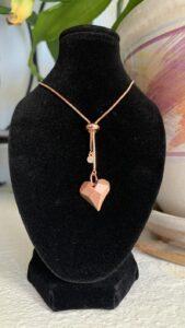 desert oasis rose gold heart necklace