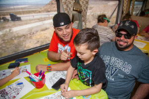 father's day story time on the train in boulder city